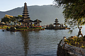 The Bratan Temple in Danau Bratan in the highlands of Bali, Indonesia, Southeast Asia, Asia