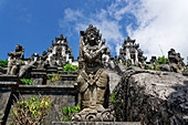Temple guards guard the Pura Luhur Lempuyang at Gunung Seraya in the east of Bali, Indonesia, Southeast Asia, Asia