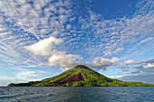 Vuurberg volcano on Banda Api across from Banda Besar, Banda Sea, Banda Islands, Moluccas, Indonesia, Southeast Asia, Asia