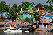 A colorful district of Tual, Banda Sea, Kei Islands, Moluccas, Indonesia, Southeast Asia, Asia