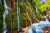 Wasserfälle, Fluss, Klamm, Schlucht, Canyon, Wimbachklamm, Berchtesgaden, Bayern, Deutschland\n