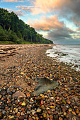 Sunrise, beach, stones, Baltic Sea, Travemünde, Mecklenburg-Western Pomerania, Germany, Europe