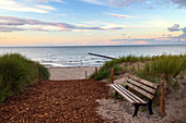Sunset, beach, bank, Baltic Sea, Zingst, Prerow, Mecklenburg-Western Pomerania, Germany, Europe