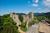 The ruins of Baden Castle, Badenweiler, Markgräflerland, Black Forest, Baden-Wuerttemberg, Germany