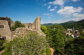 Die Ruine der Burg Baden, Badenweiler, Markgräflerland, Schwarzwald, Baden-Württemberg, Deutschland