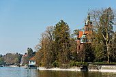old villas on the lakefront, Bad Schachen, Lindau, Lake Constance, Bavaria, Germany