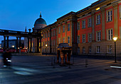 Steubenplatz, Wrestler Colonades, City Palace, Nikolaikirche, Potsdam, Brandenburg State, Germany