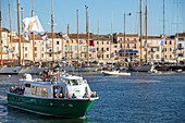 "France, Var, Saint-Tropez, the harbour, the traditional yachts on the occasion of the "" Voiles de Saint-Tropez"""