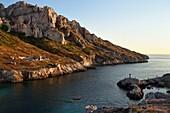France, Bouches du Rhone, Marseille, National Park of the Calanques, Les Goudes, Passages des Croisettes, the cliffs of the Ile Maire (request for authorization necessary before publication)