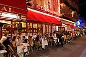 France, Calvados, Pays d'Auge, Trouville sur Mer, Le Central famous brasserie restaurant