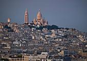 France, Paris, Paris, The Sacré Coeur and the roofs of Montmartre