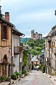 France, Aveyron, Najac, , labelled Les Plus Beaux Villages de France (The most beautiful villages of France), medieval village and castle