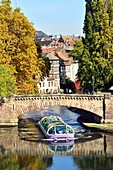 France, Bas Rhin, Strasbourg, old town listed as World Heritage by UNESCO, Petite France District, the Covered Bridges over the River Ill