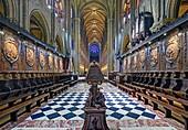 France, Paris, area listed as World Heritage by UNESCO, Île de la Cité (City Island), Notre Dame cathedral, the choir