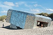 "France, Nord, Leffrinckoucke, blockhouse ""mirror"", work of the anonymous artist"
