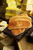 France, Nord, Lille, Old Lille, Waffles, specialitie of Meerts pastry shop