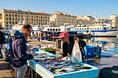 France, Bouches du Rhone, Marseille, Old Port, the fish market