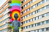 France, Paris, Street Art of the 13th district, mural by the artist Seth close to Vincent Auriol boulevard
