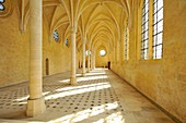 France, Aisne, Soissons, abbey Saint Jean des Vignes founded in 1076 by Hugh White, with its arrows 75 m high, the lateral refectory