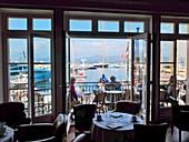 France, Var, Saint Tropez, terrace of the Sube Hotel