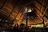 France, French Guiana, Kourou, Camp Canopee, Kitchen of te restaurant hut