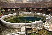 France, Yonne, Tonnerre, Washhouse of the Dionne Pit, Circular basin