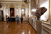 France, Bas Rhin, Strasbourg, old town listed as World Heritage by UNESCO, the Palais des Rohan, which houses the Museum of Decorative Arts, living room of the bishops