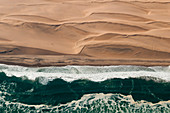 Aerial view of Skeleton Coast,Namib Desert,Namibia