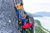 Trad Climbing, Stawamus Chief, Sea to Sky Korridor,  Squamish, British Columbia, Kanada