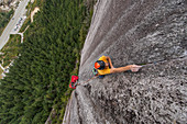 Trad climbing,Stawamus Chief,Sea to Sky corridor,Squamish,British Columbia,Canada