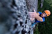 Trad climbing,Stawamus Chief,Squamish,British Columbia,Canada