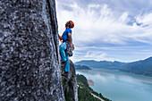 Trad Climbing, Stawamus Chief, Squamish, British Columbia, Kanada