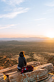 Woman on Bear Mountain,Sedona,Arizona,United States
