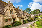 Bibury Weavers Cottages, Arlington Row, Bibury, The Cotswolds, Wiltshire, England, United Kingdom, Europe