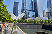 9/11 Memorial Fountain in New York City, New York, United States of America, North America