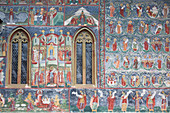 External Frescoes, Sucevita Monastery, 1585, UNESCO World Heritage Site, Sucevita, Suceava County, Romania, Europe