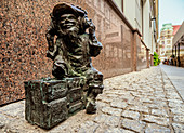 Dwarf Sculpture at the Old Town, Wroclaw, Lower Silesian Voivodeship, Poland, Europe