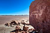 Rock Art in Atacama desert, Chile, South America