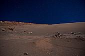 Moon Valley at night, San Pedro Atacama Desert, Chile, South America