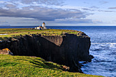 Eshaness Lighthouse, Stevenson, 1929, cliff top boulders, Northmavine, Mainland, Shetland Isles, Scotland, United Kingdom, Europe