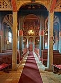 West wing of Ringebu Stave Church, Stavkyrkje Ringebu, Ringebu, Gudbrandsdalen, Rondanevegen, Oppland, Norway, Europe