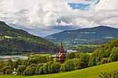 Ringebu stave church above the river Lagen, Ringebu, Stavkyrkje, Gudbrandsdalen, Oppland, Norway, Europe