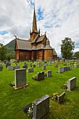 Stabkirche Lom, Stavkyrkje Lom, Lom, Oppland, Norwegen, Europa