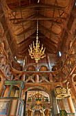 View to the roof of Lom Stave Church, Stavkyrkje Lom, Lom, Oppland, Norway, Europe