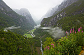 View from the Stalheim - Hotel ins Naeröydalen, Sogn og Fjordane, Norway, Europe