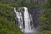 Skervefossen waterfall near Voss, Hordaland, Norway, Europe