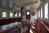 Steam-ship Björen on the Byglandsfjorden, Bygland, Setesdalen, Aust-Agder, Norway, Europe