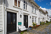 Kristiansand, Straße Gyldenlöves gate in der quadratisch angelegten Altstadt, Posebyen, Vest-Agder, Skagerak, Norwegen, Europa