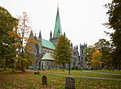 Nidarosdom, cathedral (Nidaros domkirke) in Trondheim, Nidelva, Sör-Trondelag Province, Trondelag, Norway, Europe