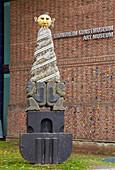 Art museum in Trondheim and sculpture in front of it, Soer-Trondelag Province, Trondelag, Norway, Europe